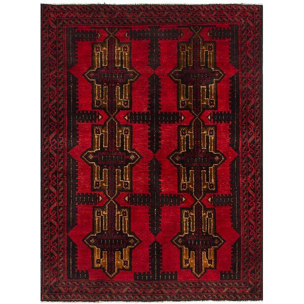 One-of-a-Kind Alana Hand-Knotted Wool Red Area Rug by Isabelline
