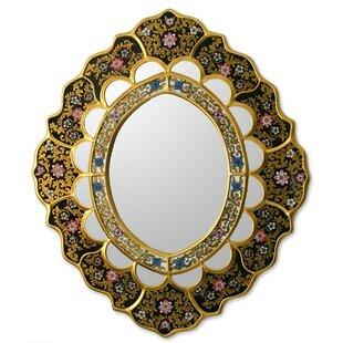 Novica Ebony Garden Accent Mirror