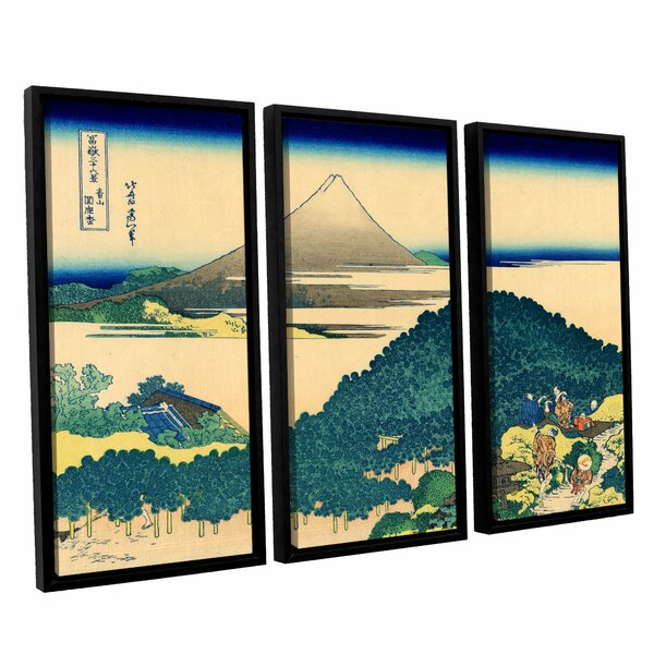 The Coast of Seven Leages in Kamajura by Katsushika Hokusai 3 Piece Framed Painting Print Set by ArtWall