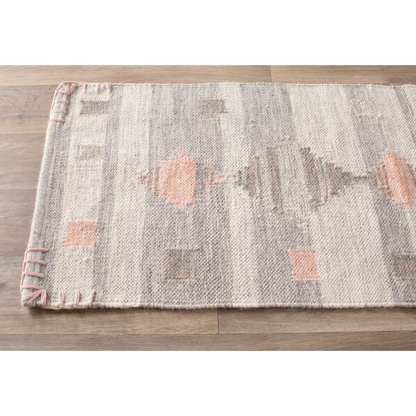 Cahone Light Gray/Dusty Coral Area Rug by Loon Peak