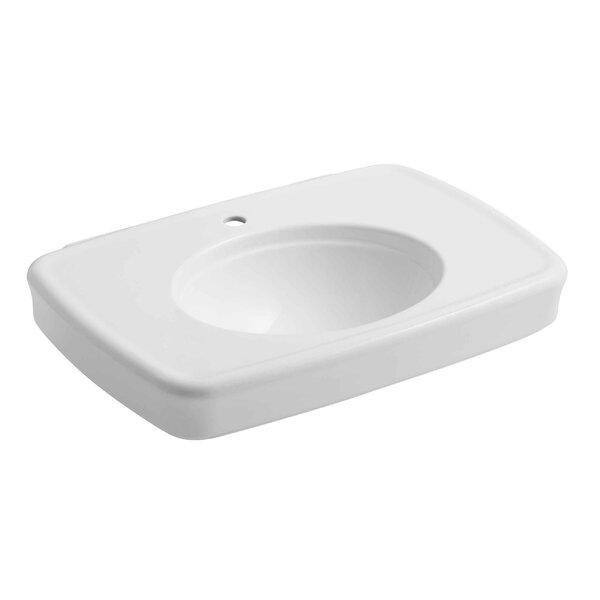Bancroft® Ceramic 31 Pedestal Bathroom Sink with Overflow