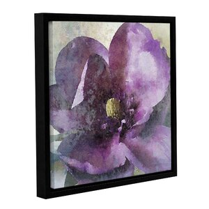 Purple Spring Rhapsody Framed Painting Print on Wrapped Canvas by Lark Manor