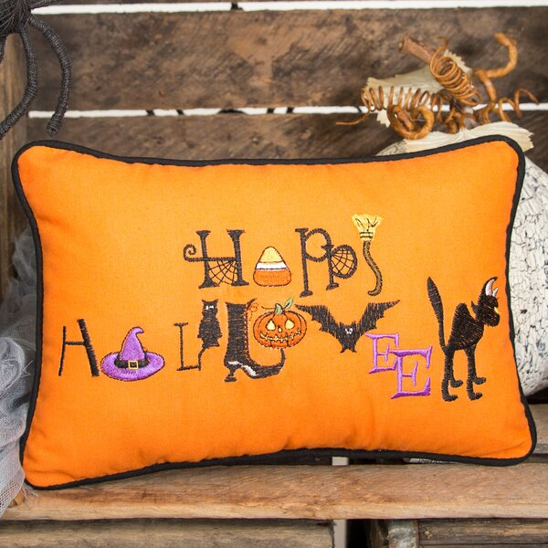 Happy Halloween Lumbar Pillow by C&F Home