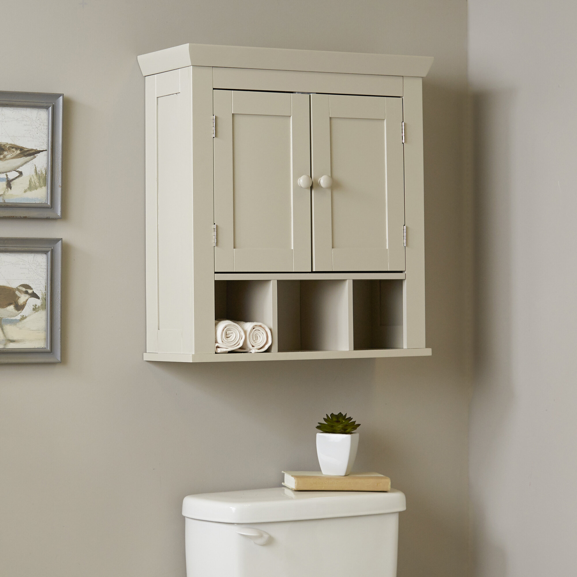 birch lane caraway 224 w x 24 h wall mounted cabinet reviews birch lane - Wall Mounted Bathroom Cabinet