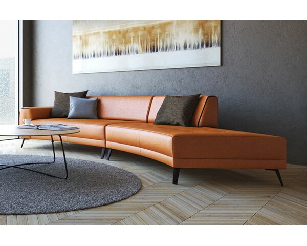 Shandel Italian Leather Modular Sectional by Brayden Studio