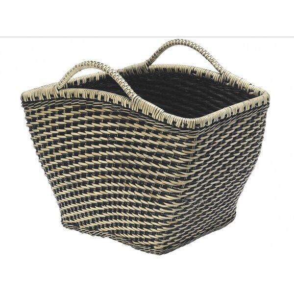 Rectangular Wicker Magazine Rack and Newspaper Basket by Kouboo