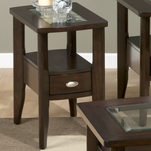 Berwick Glass Top End Table By Red Barrel Studio