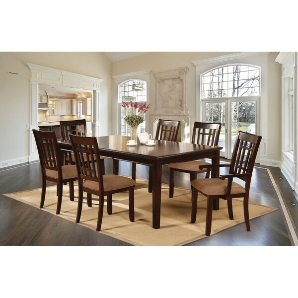 Kinzey 7 Piece Solid Wood Dining Set by Alcott Hill Alcott Hill