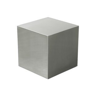 Compare Stainless Steel Cube End Table By Gus* Modern