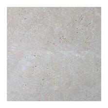 Light Tumbled 6 x 12 Travertine Field Tile in Gray
