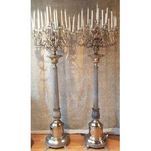 Chandelier floor lamps wayfair palace chandelier 108 candelabra floor lamp set of 2 mozeypictures Images