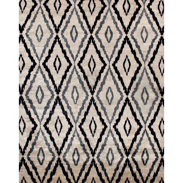 Camden Hand-Knotted Blue/Ivory Area Rug by Exquisite Rugs