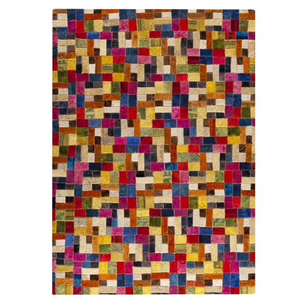 Puzzle Hand-Tufted Area Rug by Hokku Designs