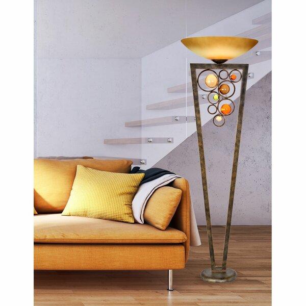Latrell 71 Torchiere Floor Lamp by Latitude Run