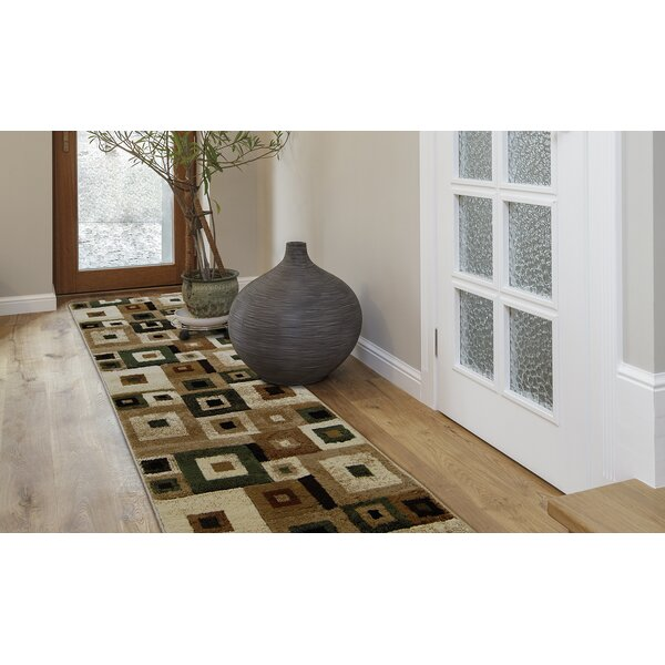 Nolan Brown/Green Area Rug by Zipcode Design