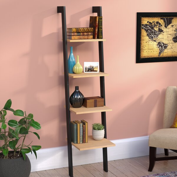 Xavier Weathered Oak Ladder Bookcase by Langley Street