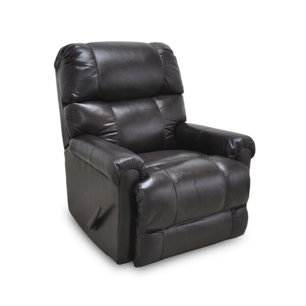 Woodview Leather Manual Rocker Recliner by Darby Home Co