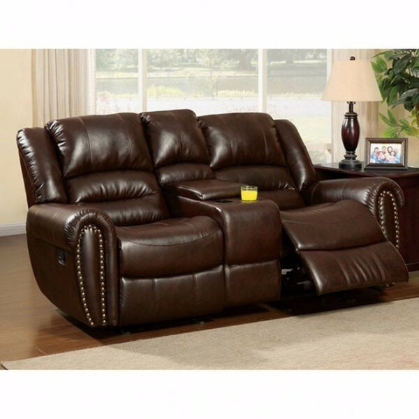 Guthrie Bonded Leather Reclining Loveseat by Red Barrel Studio