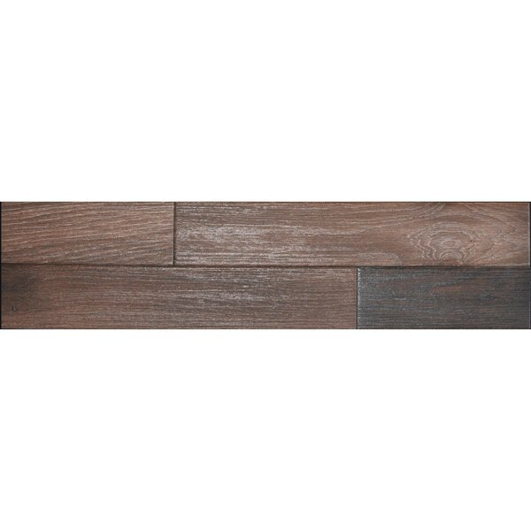 Madera 3 x 17 Porcelain Wood Look Tile in Walnut by The Bella Collection