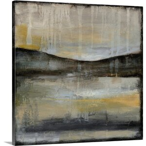'Misty Horizon II' by Jennifer Goldberger Painting Print on Wrapped Canvas by Great Big Canvas