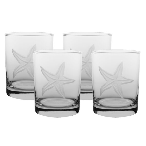 Starfish Double Old Fashioned Glass (Set of 4) by Rolf Glass