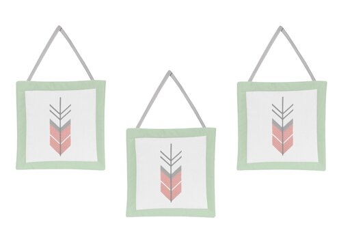 Mod Arrow 3 Piece Hanging Art Set by Sweet Jojo Designs