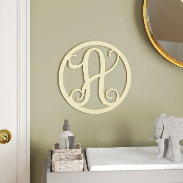 Henline Single Letter Circle Monogram Hanging Initial by Viv + Rae