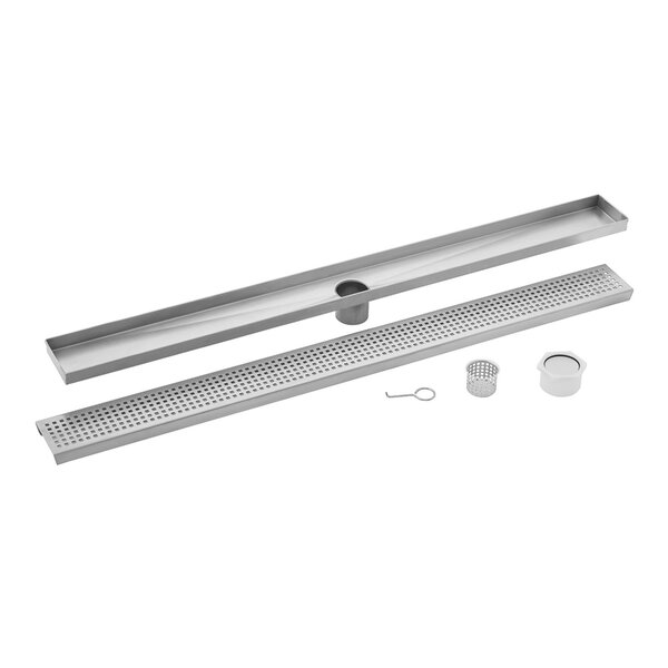 Square Grate Linear 2 Grid Shower Drain by Cahaba