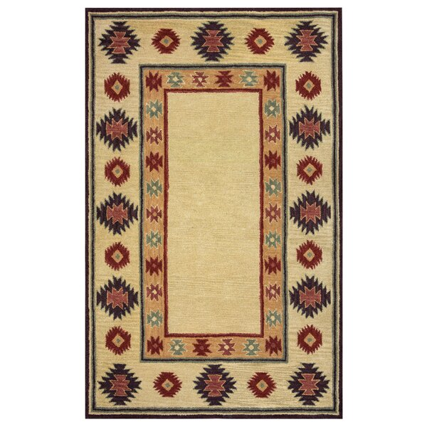 Hand-Tufted Beige Area Rug by The Conestoga Trading Co.