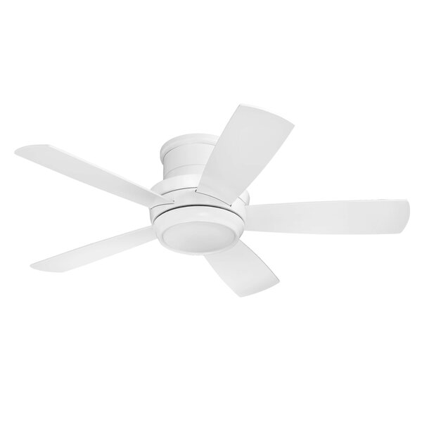 Contemporary 44 Cedarton Hugger 5 Blade Ceiling Fan with Remote by Latitude Run