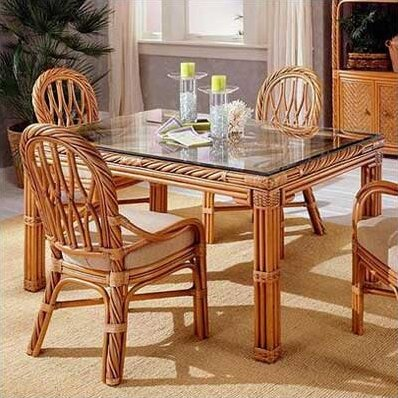 3300 New Twist Dining Table by South Sea Rattan