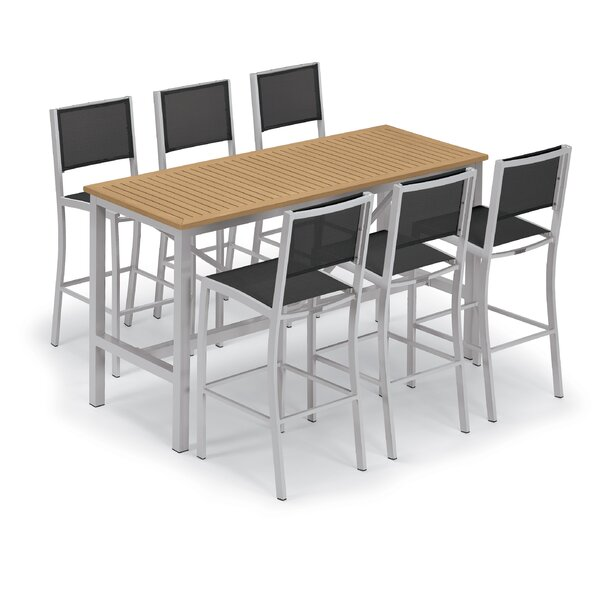 Maclin 7 Piece Bar Height Dining Set by Latitude Run