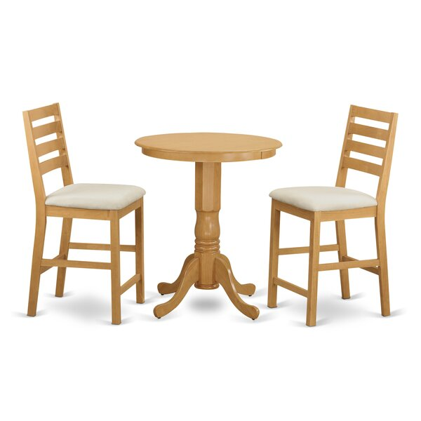 3 Piece Counter Height Pub Table Set by Wooden Importers