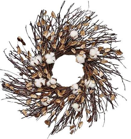 Wild Cotton 22 Wreath by Gracie Oaks