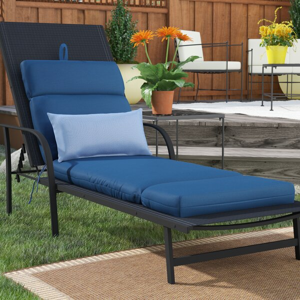 Indoor/Outdoor Sunbrella Chaise Cushion by Highland Dunes