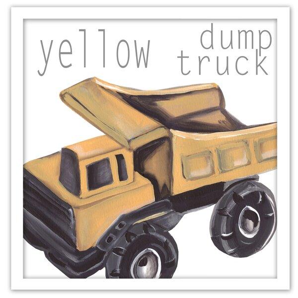 Dump Truck Framed Art by Doodlefish