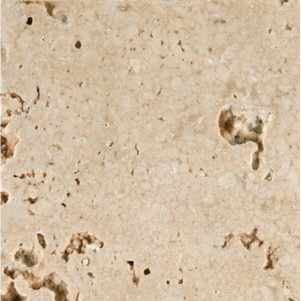 Travertine 6 x 6 Tile Tile in Cream Tumbled by Emser Tile