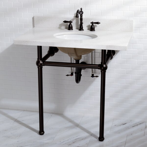 Templeton Vitreous China 13 Console Bathroom Sink with Overflow by Kingston Brass