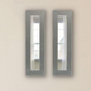 August Grove Foosland Panel Accent Mirror (Set of 2)