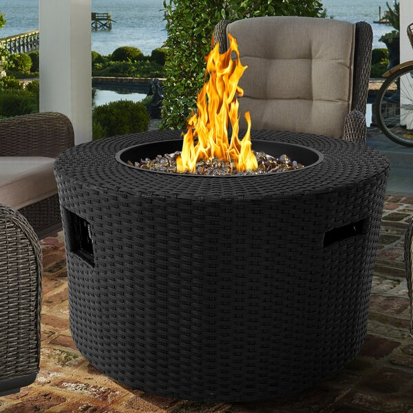 Moon Stainless Steel Propane Fire Pit Table by Armen Living