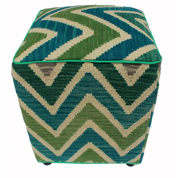 Reinhart Kilim Cube Ottoman by World Menagerie
