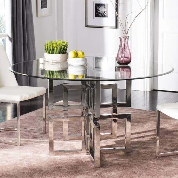 Petree Glass Top Dining Table by Orren Ellis