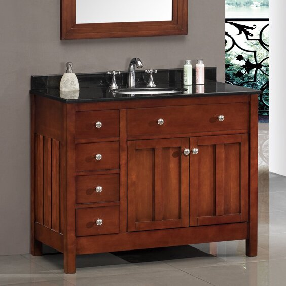 Adam 42 Single Bathroom Vanity Set