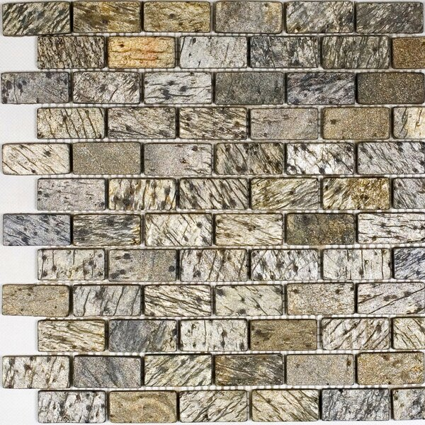 1 x 2 Slate Mosaic Tile in Beige/Gray by Epoch Architectural Surfaces