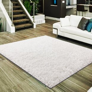 Reviews Mcraney 3 Type of Yarn Shag Hand-Tufted White Area Rug By Latitude Run