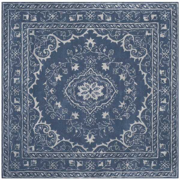 Samaniego Hand-Tufted Blue Area Rug by Bungalow Rose