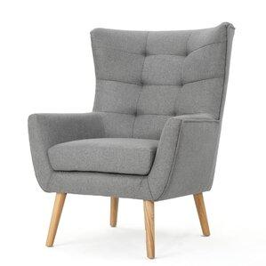 nola mid century fabric club chair