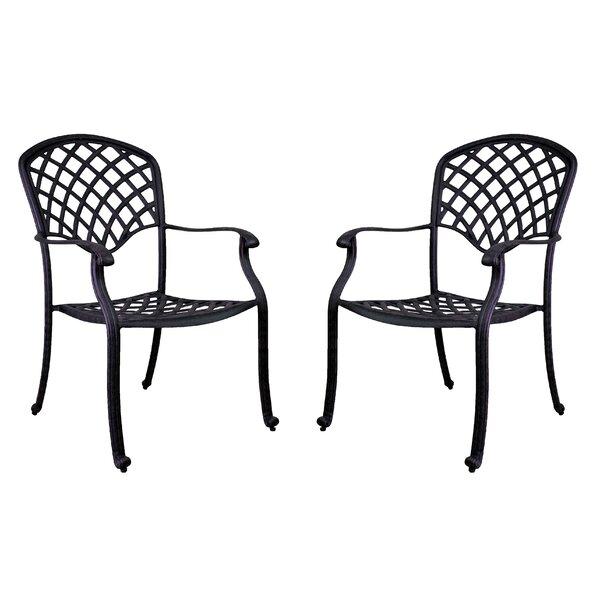 Idalou Stacking Patio Dining Chair (Set of 2) by Fleur De Lis Living