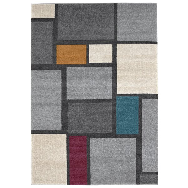 Maly Gray/Ivory Area Rug by Ivy Bronx