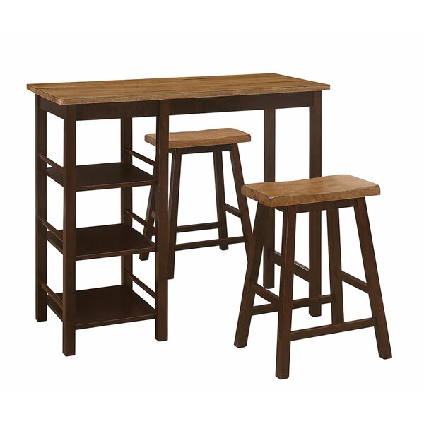 Aquinnah 3 Piece Counter Height Dining Set By Red Barrel Studio